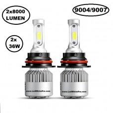 LED крушки за фарове 9004-9007 модел COB